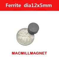 Wholesale Magnet Ferrite - Free Shipping, Ferrite magnet, 30pcs pack, dia12x5mm,Whole Sales Brand New Ferrite Magnet