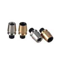Friction Drip Tip Friction Ecig New Drip Tips O-ringless Design Drip tips Air Flow Largeur pour RDA RBA 510 Atomizer SS Gold DHL Gratuit