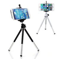 Wholesale Iphone 4s Silver - Universal Mini 360 Rotating Extendable Mini Tripod + Stand Holder For Samsung Note 3 Galaxy S5 iPhone 5S 4S for galaxy note