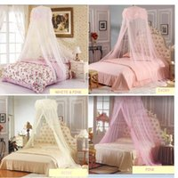 Wholesale Mosquito Net Canopy Queen Size - Wholesale-Princess Lace Mosquito Net Canopy Bites Protect For Twin Queen Size Bed