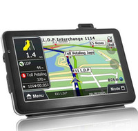 Wholesale gps maps australia - 7 inch Portable Car GPS 718N HD 800*480 Navigation System Bluetooth AVIN Capacit Screen FM 8GB 256MB Vehicle Truck GPS Maps Guide