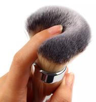 профессиональный корабль падения макияжа оптовых-New ARRIVAL Fashion Kabuki kit Professional Makeup Brushes Ulta it all over 211 Flawless Blush Powder Brush Silver Color Drop Shipping