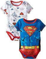 Wholesale Baby Sculpt - Baby romper Superman Boys moulding modelling one-piece sculpt cartoon boy rompers jumper short sleeve free shipping