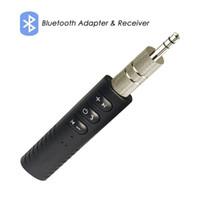 haut-parleurs bluetooth achat en gros de-Universal 3.5mm jack Bluetooth Car Kit Mains Libres Musique Audio Récepteur Adaptateur Auto AUX Kit pour Haut-Parleur Casque Stéréo de Voiture