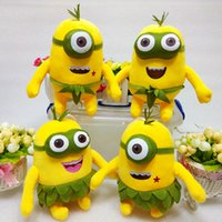 Wholesale Minions Stuff For Kids - 20cm Despicable Me 3 Minions Hawaii Hula plush toys doll soft stuffed toys for kids ZJ1039