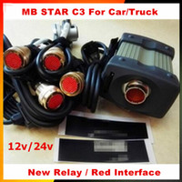 diagnosenkabel russische sprache großhandel-Niedrigster Preis 12 / 24v MB-Stern C3 mit 5 Kabeln Selbstdiagnosewerkzeug MB C3 ohne HDD-Stern c3 für Engine Analyzer mehrsprachig