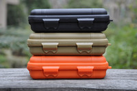 Wholesale Tactical Travel Case - Tactical Shockproof waterproof sealed Pressure-proof boxes Storage survival tool box special use cases Big size 165mm*105mm*55mm