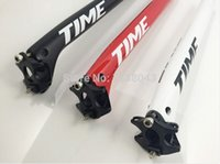 Wholesale Time Seatpost Parts - 2015 New TIME 3k carbon fiber road bike seatpost bicycle parts full carbon seatpost 27.2 30.8  31.6 * 350mm*400mm 25 degrees