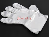 Wholesale Bbq Disposable - Transparent Disposable Gloves for home cooking beauty New Disposable Plastic Glove Sanitary Restaurant Home BBQ Cook Kitchen Food
