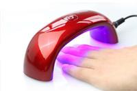 lâmpadas de cura portáteis uv venda por atacado-Secadores de Prego DHL 9 W LED Mini Lâmpada de Cura Portátil Rainbow Em Forma de Máquina de Gel UV Unha Polonês Nail Art Ferramentas Mini Secador de Unhas