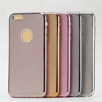Wholesale Beautiful Shells - The new ultra-thin Series and 5 Series for IPHONE6 preparation grain soft protective shell plating beautiful fashion shell free shipping