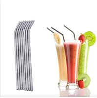 Wholesale Fruit Spoons - Eco Friendly Stainless Steel Straws Drinking Straws 8.5Inch 10.5Inch Extra Long for Beer Fruit Juice Drink Fast Delivery