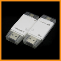 Wholesale Iphone External Drive - 16G 32G Mobile Phone Extended Memory Card USB i-FlashDrive Flash Drive Memory Card Reader for iPhone 6 iPad iOS