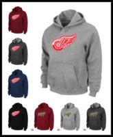 ingrosso guarda il fuoco-Epacket Men Redwings felpe di hockey su ghiaccio Detroit warm Pullover abbigliamento marrone vino rosso nero Mens watching gioco fire felpa con cappuccio Calgary M-XXXL