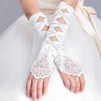 Wholesale Fingerless Fur Long Gloves - 2016 NEW HOT Cheap Free Shipping Long Modern Wedding Gloves Fingerless Bride Glove High Quality Newest
