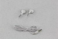 Wholesale Mini Hd Headphones - 300pcs White Fashion in-ear Earphone Headphone Earbuds 3.5mm For Cell phone iphone Samsung Mp3 Mp4 Mini HD headset Free Shipping