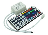 Wholesale 24 Key Ir Controller - RGB Controller 3528 5050 LED Strip light 24 44 Keys IR Remote Controller for RGB SMD string Lights 12V