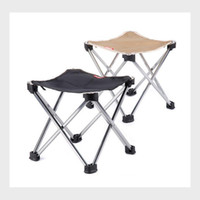 Wholesale Smallest Portable Stool - Outdoor Portable Folding Stool Stool Small Mazar Train Folding Chairs Outdoor Sport Camping Aluminium Alloy Fishing Stool