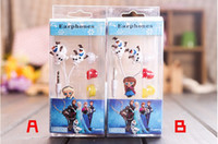 Wholesale Earphone Anime - 2014 Best cartoon Earphones Anime Headphones Frozen Headset Anna Elsa Olaf earphones 3.5mm for mp3 player phones