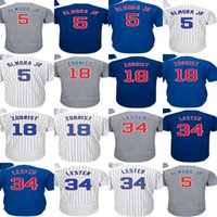 2017 Chicago 5 Albert Almora JR 18 Ben Zobrist 34 Jon Lester Mens Womens Youth Cool Baseball Jerseys Blanco Azul Marino 2016 WS Champion