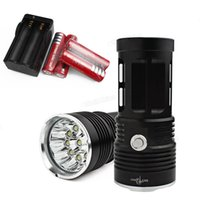 Wholesale Smart Torch Light - SKYRAY Hunting   Fishing 18000LM 10 x XML-T6 LED Flash Light Torch Lamp + Smart Charger LEF_001