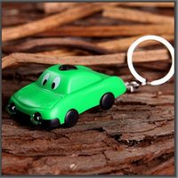 Key Chain 2-LED Cartoon-Car Solar Green Power prodotto Luce istantanea con il pannello solare regalo 100pcs / lot 031-0