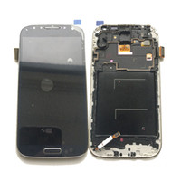 Wholesale Galaxy S4 Lcd Black - New LCD Display Touch Screen Digitizer+Frame For Samsung Galaxy S4 i9500 i9505 gt-i9500 Adjusted Brightness Black White DHL logistics