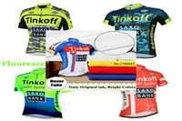 Wholesale Team Saxo Bank Shirt - High quality SAXO BANK pro Team Cycling Shirts Tops High Elastic Summer Cycling Suit Breathable Road Bicycle Clothes Roupa maillot Ciclismo