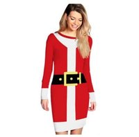 Women Dress Christmas Santa Claus Moda Lucky Star Snowball Dress Outono Inverno Long Sleeves Colorful Girls Xmas Gifts DHL Frete Grátis