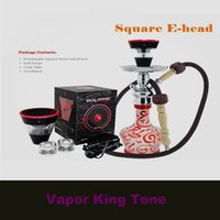 18650 50w e head square ehead Newest design square e head e hose vape dry ecig mini e shisha square cartridge refillable hookah disposable hookah DHL FREE