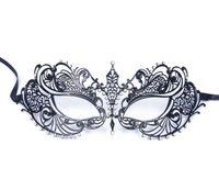 hafif metal toptan satış-Lüks kadın Lazer Kesim Ince Metal Venedik Pretty Güzellik Masquerade Bauta Maske Prenses Balo Parti Siyah Temizle Kristal Hafif Ile