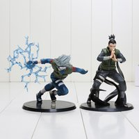 Wholesale Naruto Figures Set - 2pcs set Anime Naruto Nara Shikamaru + Hatake Kakashi PVC Figures Toys size in 15cm with opp bag