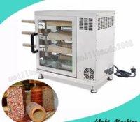 pãezinhos venda por atacado-Máquina de rolo de bolo de chaminé máquina de rolo de pão assado automática forno elétrico forno de chaminé para venda 110 v 220 v MYY