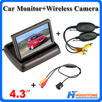 "Wholesale Acura Systems - High Quality 4.3 "" Car Monitor 2 Channels Videos Wireless Car Rearview Camera 170° Wide Viewing Angle Waterproof Rearview Camera System"