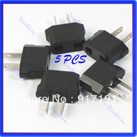 Wholesale Euro Plug Charger - P80 Free Shipping 5pcs lot Travel Charger Plug Adapter EURO EU AU TO US USA
