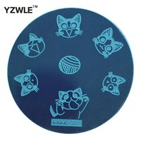 Wholesale polished stainless sheet for sale - YZWLE Sheet Stamping Nail Art Image Plate cm Stainless Steel Template Polish Manicure Stencil Tools hehe