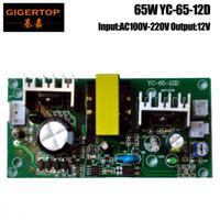 Wholesale power supply fans - TIPTOP YC-65-12D 65W Stage Light Power Supply Output 12V For Led Lamp 12V For Cooling Fan Socket 2 PIN Socket 10W Spot Light