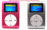 Wholesale Sd Slot Mini Speaker Mp3 - Colorful MINI Clip MP3 Player with 1.2'' Inch LCD Screen Music player Support Micro SD TF Slot + Earphone +USB Cable with Gift box