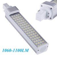 Wholesale G24 Led 22w - Energy Saving Bulb Lamp Light 180 degree 13W 64 LEDs White Led Lighting Lamp 100-240V 5050 SMD 1060-1100LM G24