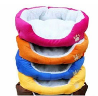 Wholesale Large Oval Dog Beds - 2014 HOT ! Colorful Pet Cat and Dog bed & Pink,Orange,Blue,Yellow,Brown,Gray,Green SIZE M,L