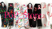 """Wholesale Cell Phone Chain Lanyard - Wholesale - Breast Cancer Awareness Cell Phone Straps & Charms   neck Lanyard Key Chain 18"""""""