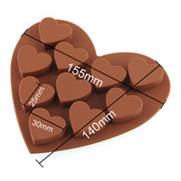 Wholesale Heart Fondant Cake - Free Shipping Heart Type Muffin Sweet Candy Jelly Fondant Cake Chocolate Mold Silicone Tool Baking Pan