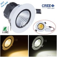 CREE led Plafonnier lampe9W cob led downlight lihgt Downlight pour maison Dimmable Warm / Cool blanc Led lampe de plafond 110V 220-240V + CE ROHS