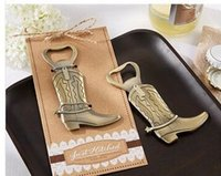 """Wholesale Hitch Wholesale - 2017 NEW ARRIVAL+Wedding Favors and Gift """"Just Hitched"""" Cowboy Boot Bottle Opener Bridal Shower Favors LOT+FREE SHIPPING"""