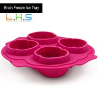 Wholesale Silicone Mould Brain - 2015 new arrival brain ice mold ice cube silicone ice cube tray silic cake mould cake tools great package free shipping