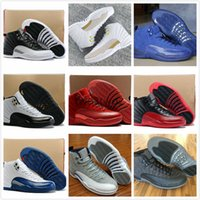 2016 alta qualità aria retrò 12 XII ali uomini Scarpe da basket Retro 12s Discolor Gold Wings Nero Golden retro 12s Sport Sneakers Stivali