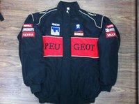 Wholesale Logo Sport Racing - Embroidery LOGO F1 FIA NASCAR IndyCar V8 Supercar Racing Cotton Jacket for Peugeot Sport Jacket A128