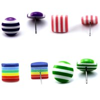 Wholesale Post Heart - Beadsnice candy stud earring for children acrylic stud earring post colorful fashion earrings wholesale jewelry lots ID 32231