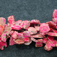Wholesale Pink Gemstone Beads Free Shipping - Free Shipping Natural Pink Imperial Jasper Beads, Raw Gemstone Emperor Stone Freeform Slice Beaded for Necklace Pendants Wholesale Pirce