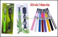 Wholesale Ego T Battery Rohs - CE4 E Cigarette Kit Blister Pack Kit 650mah 900mah 1100mah eGo-T Battery CE mark RoHS certification Various Colors eGo CE4 E Cig Kit Instock